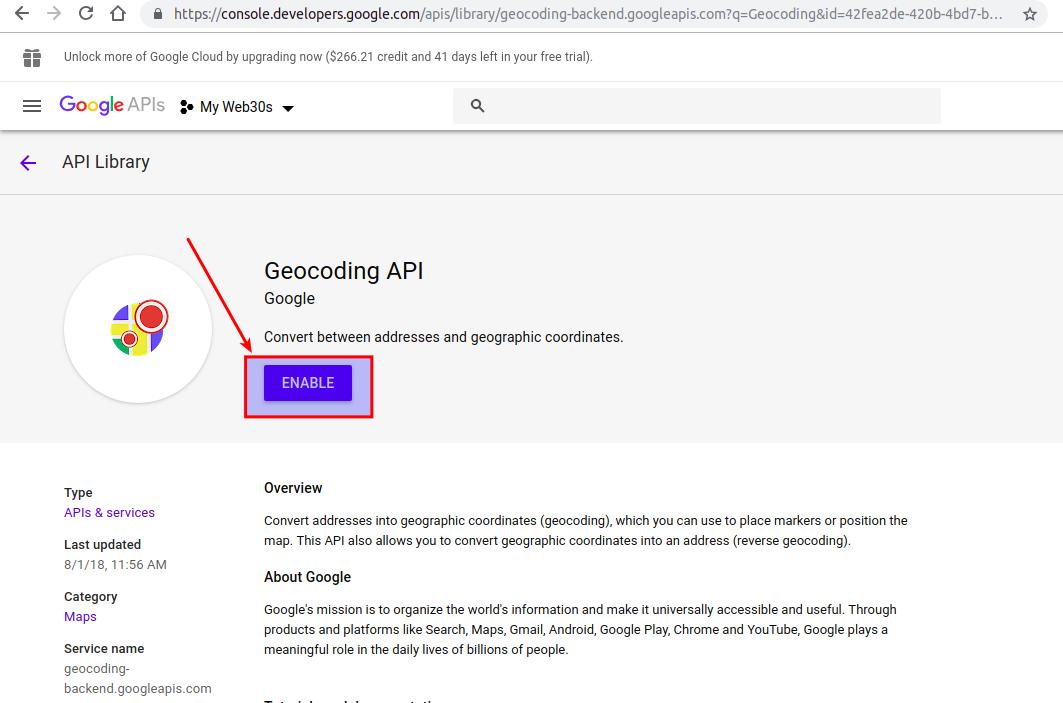 Web30s] Hướng dẫn sử dụng Admin Web30s - API Google Maps